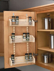 "Rev-A-Shelf 4ASR18 Adjustable Door Mount Spice Rack for 18"" Wall Cabinet -  Pro-edge HD"