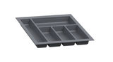 Hafele 556.55.3 Sky Plastic Cutlery Tray in Slate Gray -  Pro-edge HD
