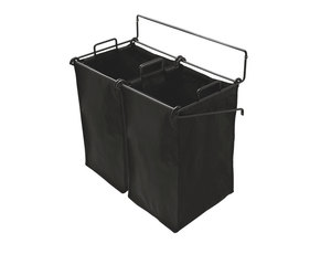 "Hafele 547.43.303 Black Synergy 22 1/4"" Tilt-Out Hamper -  Pro-edge HD"