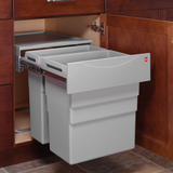 Hafele 502.70.522 Hailo Easy Cargo 50 Double Pull-out Waste Bin -  Pro-edge HD