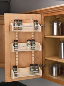 "Rev-A-Shelf 4ASR21 Adjustable Door Mount Spice Rack for 21"" Wall Cabinet -  Pro-edge HD"