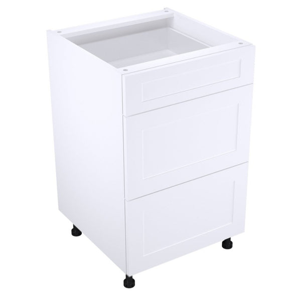 Shaker White Matte Cambridge Drawer Base Cabinets