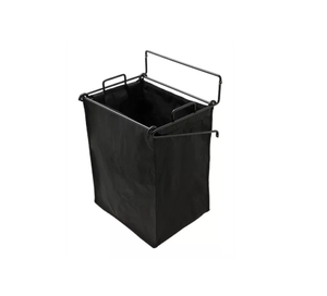 "Hafele 547.43.301 Black Synergy 16 1/4"" Tilt-Out Hamper -  Pro-edge HD"
