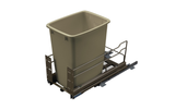 Hafele 502 56 80 Bottom Mount Pull Out Waste Bin in Champagne -  Pro-edge HD