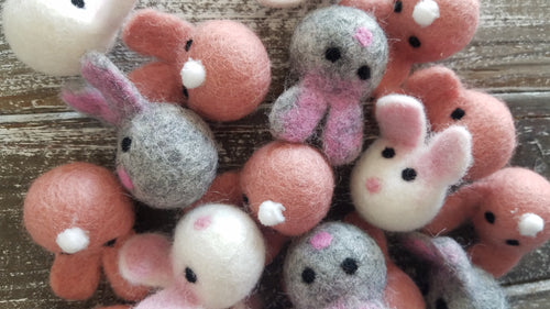 5 pieces Felted bunny. Easter bunny. Bunny decor. Felt bunny. Felt rabbit. Soft bunny.