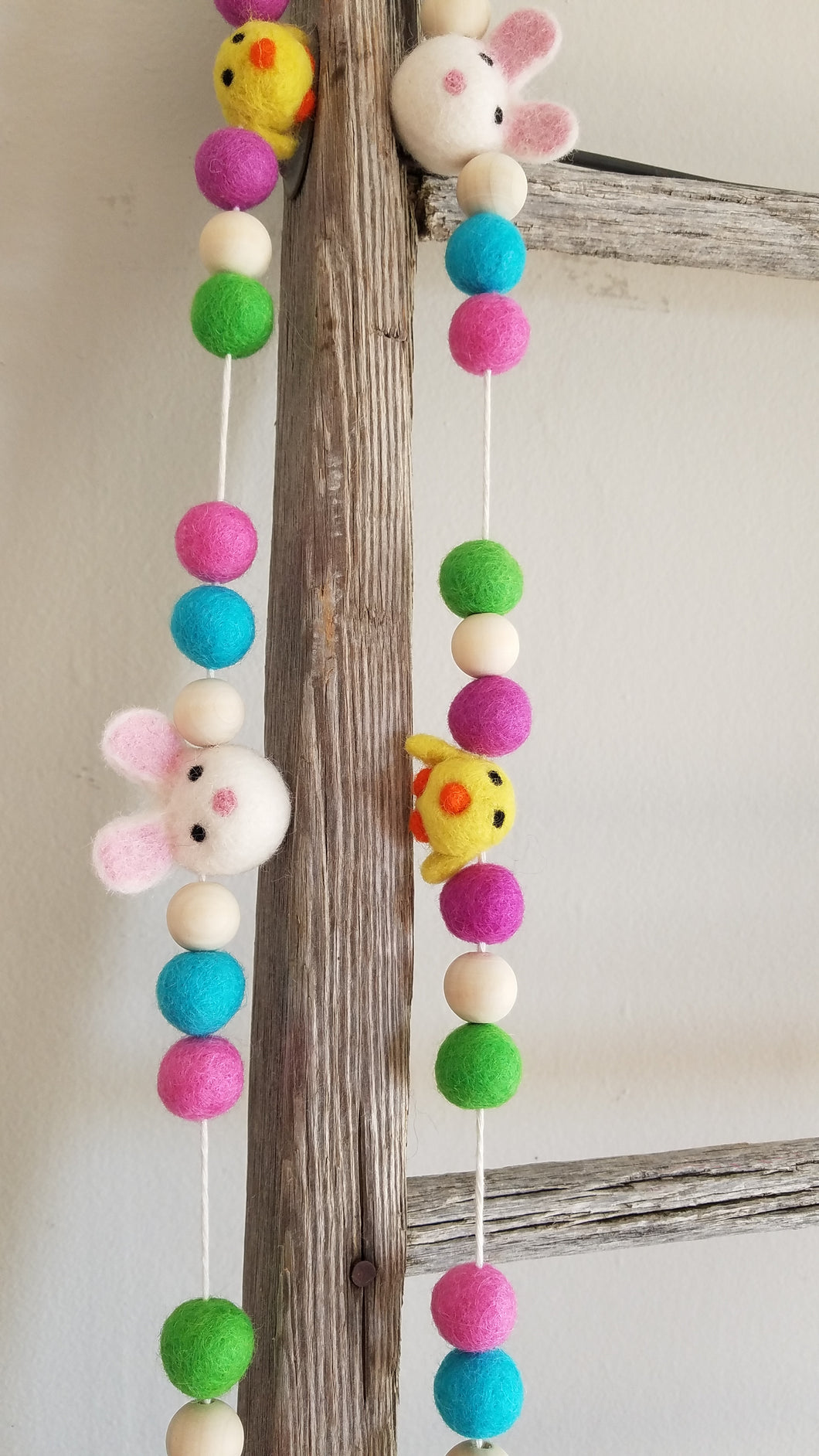 Chick and  bunny garland. Sprong decor 5ft