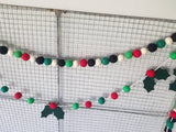 Christmas Plaid- Red, Green and Black Garland