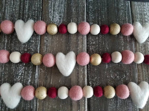 White Heart Garland