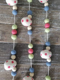 Easter egg garland. Blue eggs. Felt eggs. Easter garland. Blue and green.  5ft