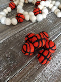 Felt basketballs. Mini basketball. Basketball decor. Embellishment. 1 inch. 5 pieces