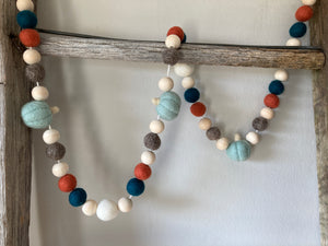 Teal pumpkin garland. Fall pumpkins 5ft