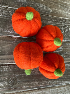 Large felt pumpkins. 2 pieces