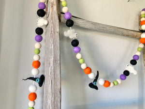 Halloween Garland. Ghost and witch garland. 5.5ft
