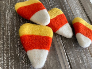 Large felt candy corn. 2 pieces