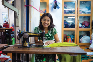 SAVE a child bride with a sewing machine