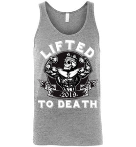 Lifted To Death King Canvas Unisex Tank