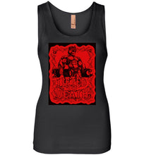 "Load image into Gallery viewer, Lifted To Death ""2020 KING - Black and Red version"" Next Level Womens Jersey Tank"