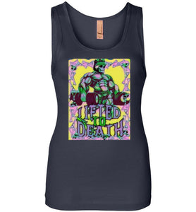 "Lifted To Death ""2020 KING - Dead Head Version"" Next Level Womens Jersey Tank"