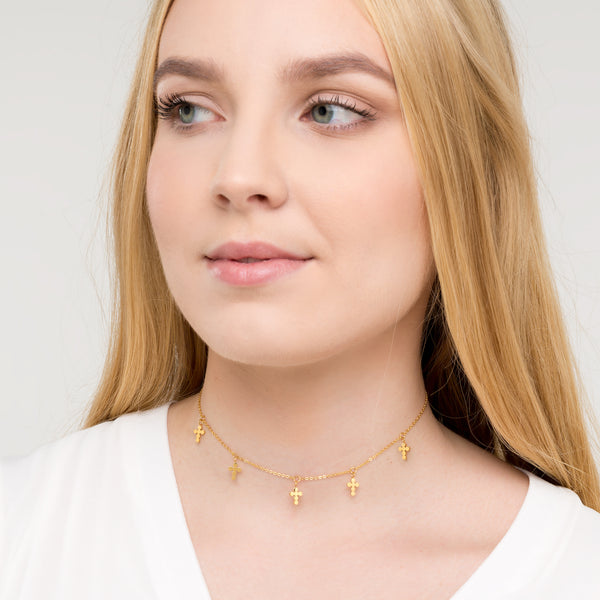 Cruz Necklace Gold