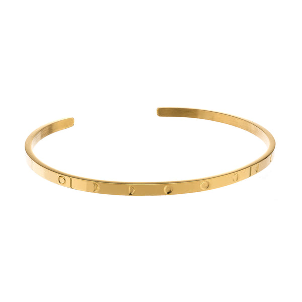 Moon Phases Bracelet Gold