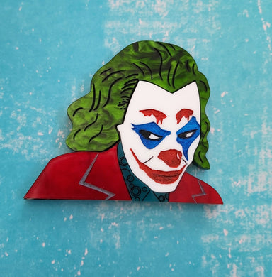 The Joker acrylic brooch