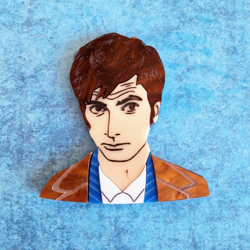 David Tennant 10th Doctor brooch