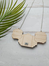 Load image into Gallery viewer, PRE-ORDER Etched triptych mirrors necklace