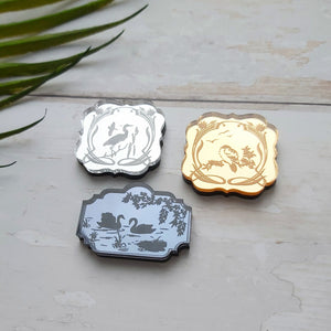 PRE-ORDER Mini brooch mirror trio