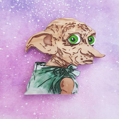 FREE DOBBY Harry Potter inspired acrylic brooch