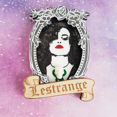 LESTRANGE Bellatrix Harry Potter inspired acrylic brooch