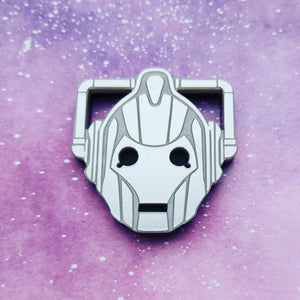 Doctor Who inspired Cyberman brooch