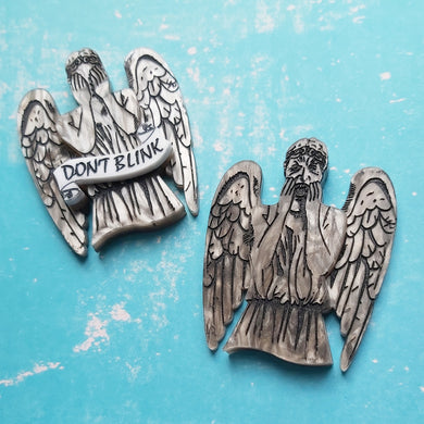 Doctor Who inspired Weeping Angel or Evil Angel brooch
