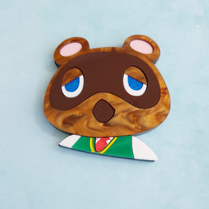 Tom Nook brooch