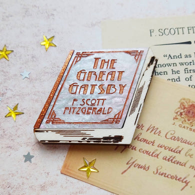 PRE ORDER Great Gatsby book brooch