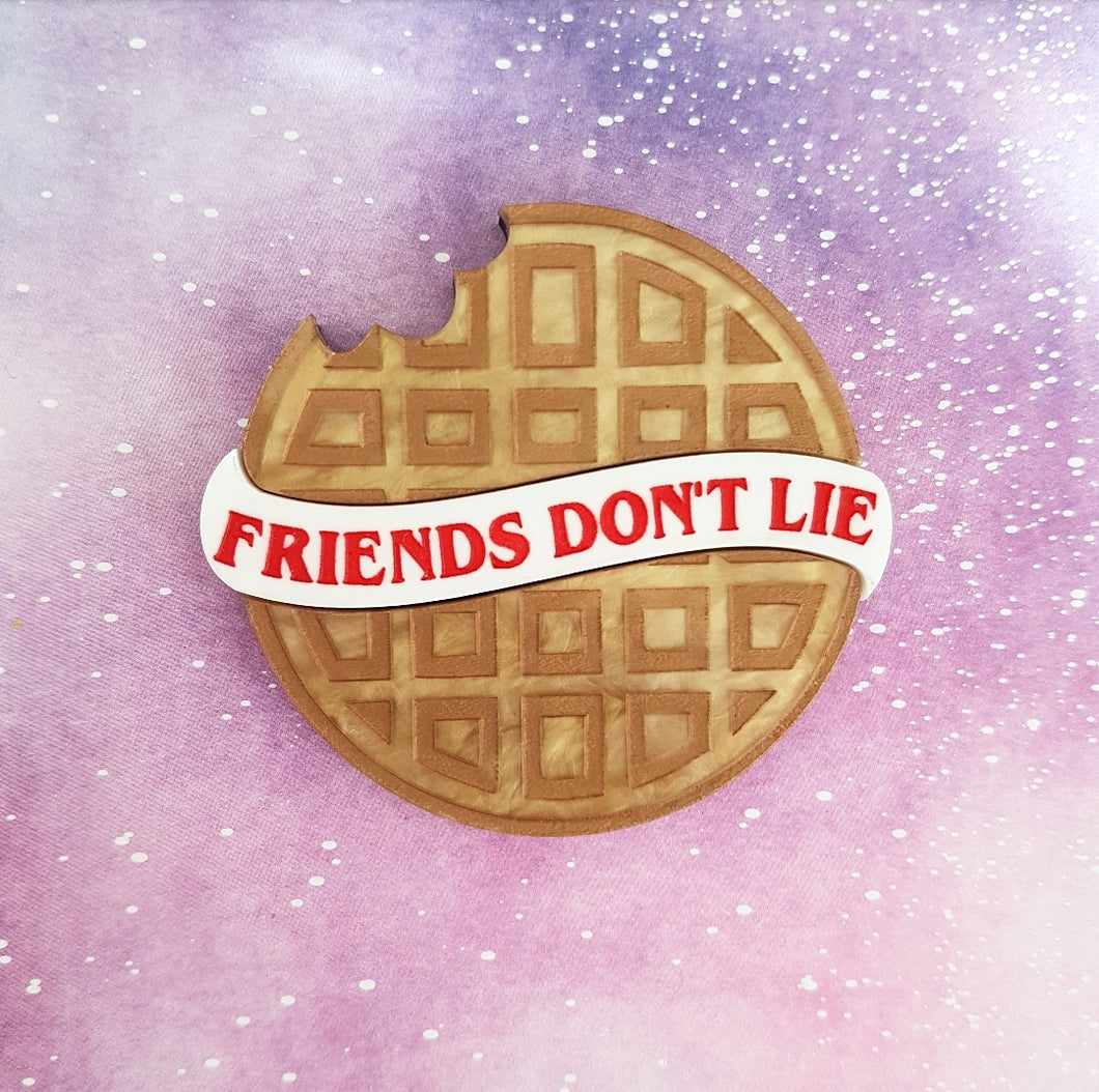 STRANGER THINGS Friends don't lie brooch