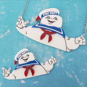 STAY PUFT Ghostbusters Halloween brooch or necklace