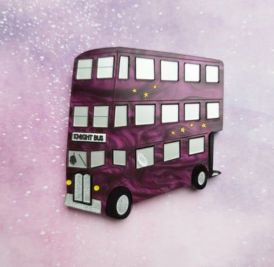 KNIGHT BUS Harry Potter inspired brooch MARBLE VERSION