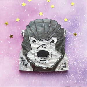 Iorek Byrnison - His Dark Materials inspired acrylic  brooch design