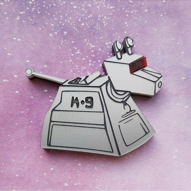 Doctor Who inspired K9 brooch