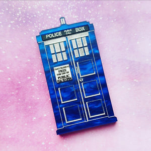 Doctor Who inspired Tardis brooch