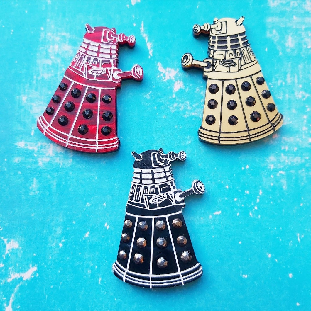 Doctor Who inspired Dalek brooch