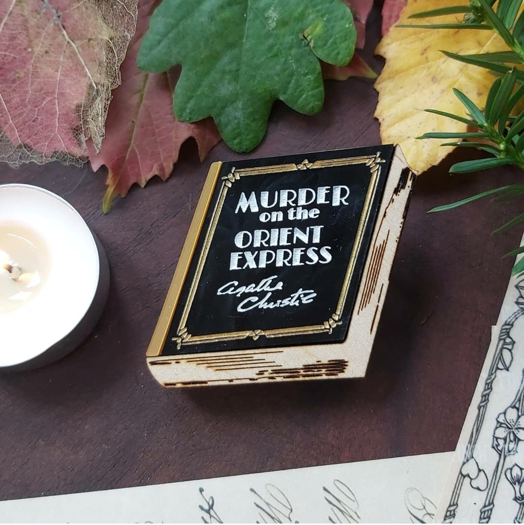 Murder on the Orient Express book brooch