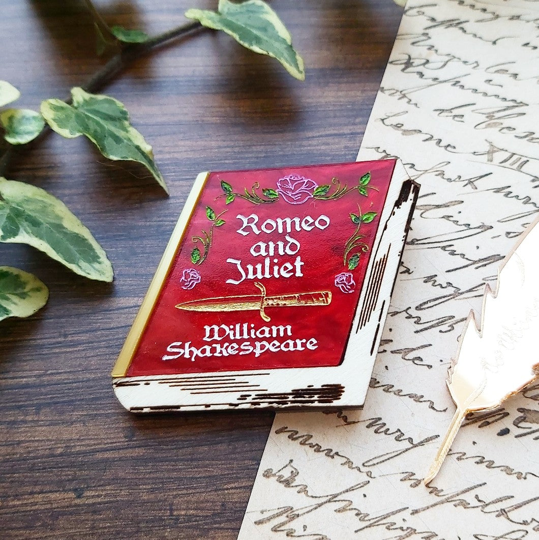 PRE ORDER Romeo and Juliet Shakespeare book brooch