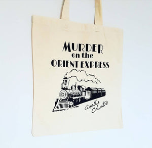 Agatha Christie Murder on the Orient Express cotton tote book bag