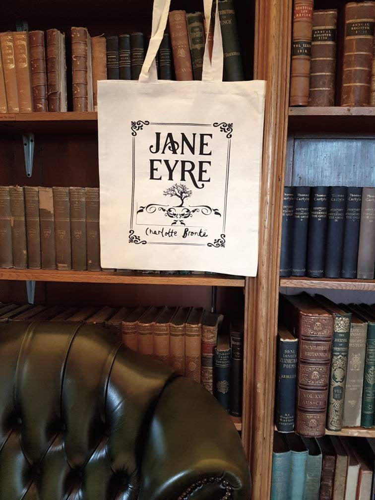 Charlotte Bronte Jane Eyre bookish cotton tote book bag