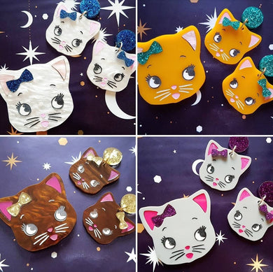 CUSTOM cat brooches or earrings - CUSTOM OPTIONS