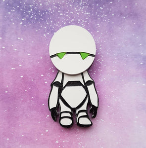 MARVIN THE PERSONALITY PROTOTYPE Hitchhiker's Guide to the Galaxy acrylic brooch