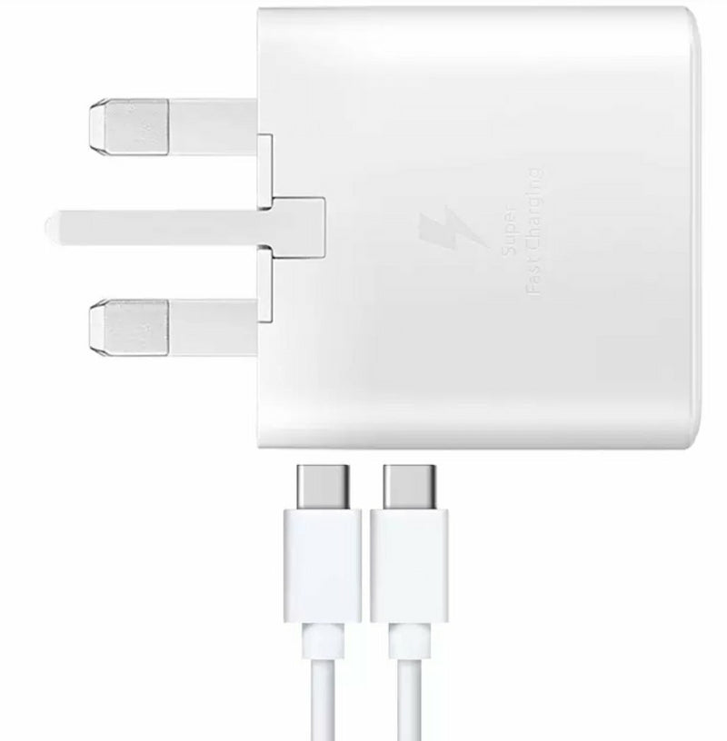 Official Samsung 25W UK USB-C Mains Charger - White - EP-TA800XWEGGB