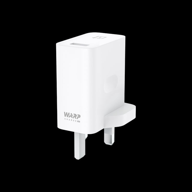 Official OnePlus 7 / 7 Pro Warp Charge 30 Power Adapter UK White
