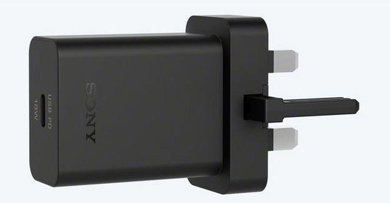 Official Sony UCH32 18W 3 Pin Fast Charger Adapter - BLACK